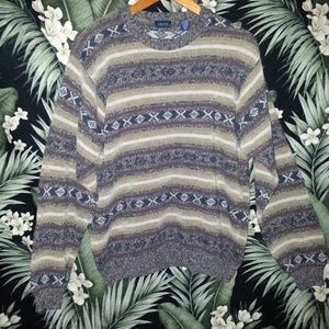 Men's Vintage Style Retro Sweater Size Medium